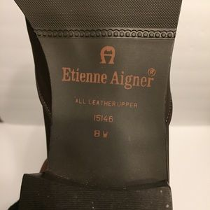 Etienne Aigner Shoes - Etienne Aigner Babs Brown Leather Ankle Boot